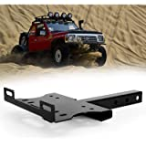 BUNKER INDUST Receiver Hitch Winch Cradle Mount Plate, Universal 2' Trailer Hitch Winch Mounting Bracket for ATV UTV…