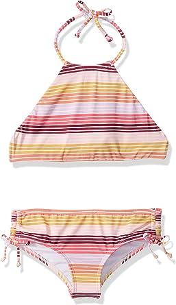 Billabong Girls Reversible High Neck Two Piece Swimsuit