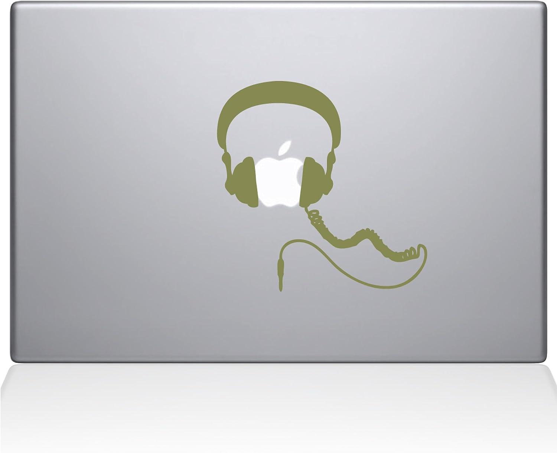 "The Decal Guru Headphones MacBook Decal Vinyl Sticker - 12"" MacBook - Gold (1081-MAC-12M-G)"
