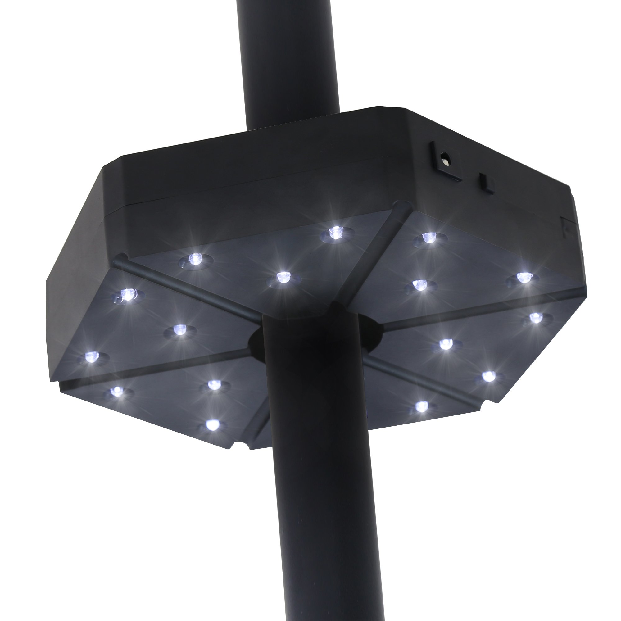 Baner Garden TD17 Patio Umbrella Light,Cordless 18 LED Night Lights,Umbrella Pole Light for Patio Umbrella,Outdoor Use Or Table Light (Matte Black)