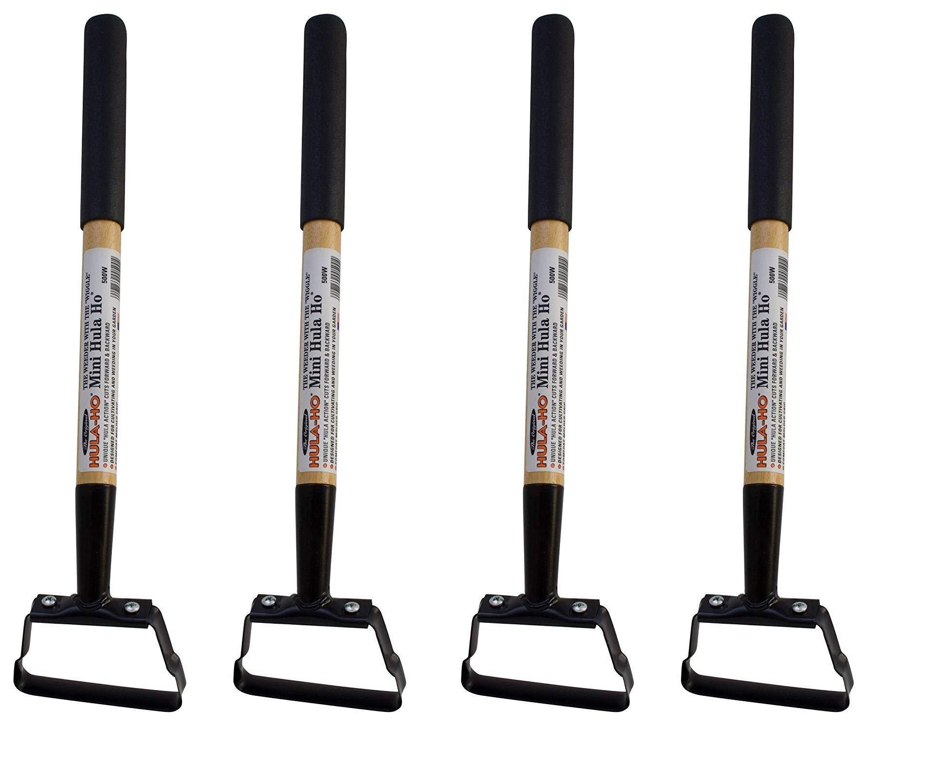 Flexrake 500W Hula-Ho Mini Hula-Ho with 14-Inch Wood Handle (4-Pack)