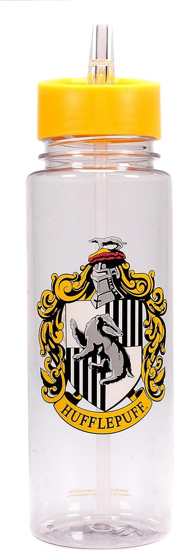 Half Moon Bay Botella de agua con modelo de Harry Potter, Escudo Hufflepuff, 750 ml