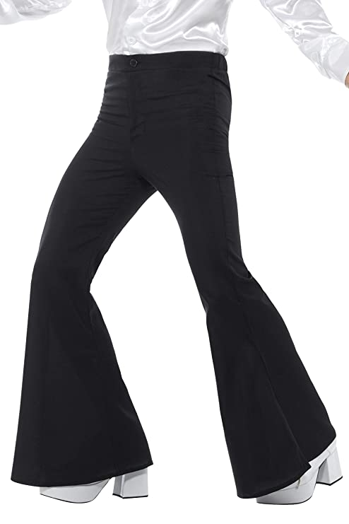 economico per lo sconto 5b752 66835 Smiffys Pantaloni a zampa d'elefante, da uomo, neri