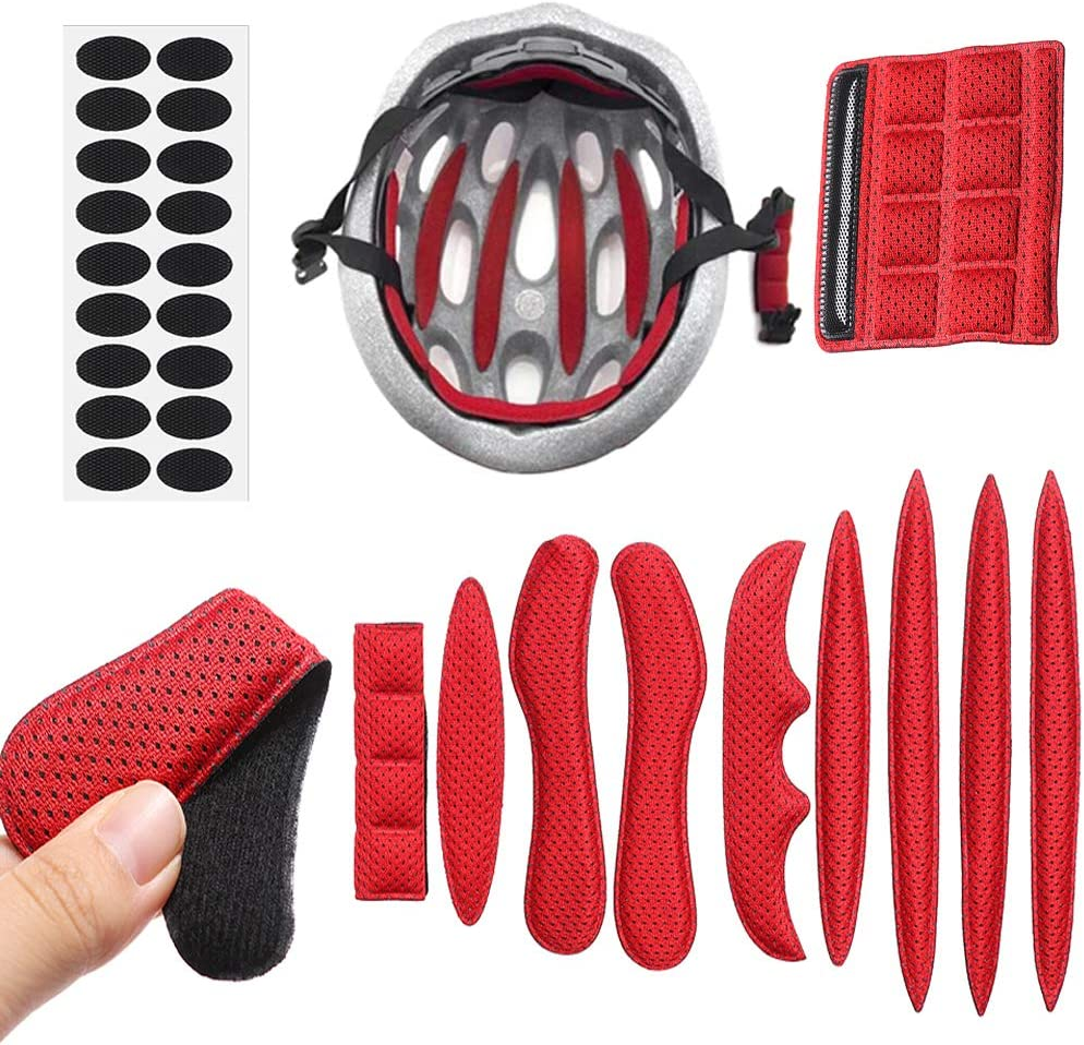 freneci 11x Fahrrad Fahrrad Helm Polster Kit Fahrrad Ersatz Universal Foam Pads