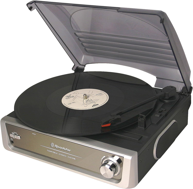 Roadstar TT-8532 - Giradiscos amplificado: Amazon.es: Electrónica