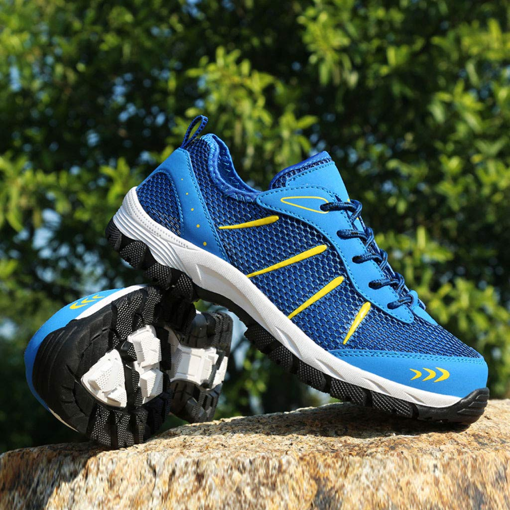 Mysky Fashion Men Popular Casual Mesh Breathable Outdoor Non-Slip Comfortable Walking Shoes Sports Hiking Shoes Blue by Mysky (Image #4)