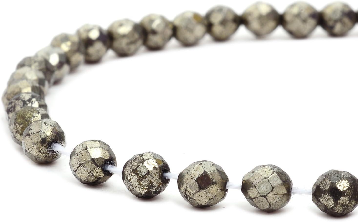 fleur Rubyca pyrite Pierre pr/écieuse naturelle p/épite Courroie Perles AAA Grade pour DIY Bijoux 1/fil 47/pcs