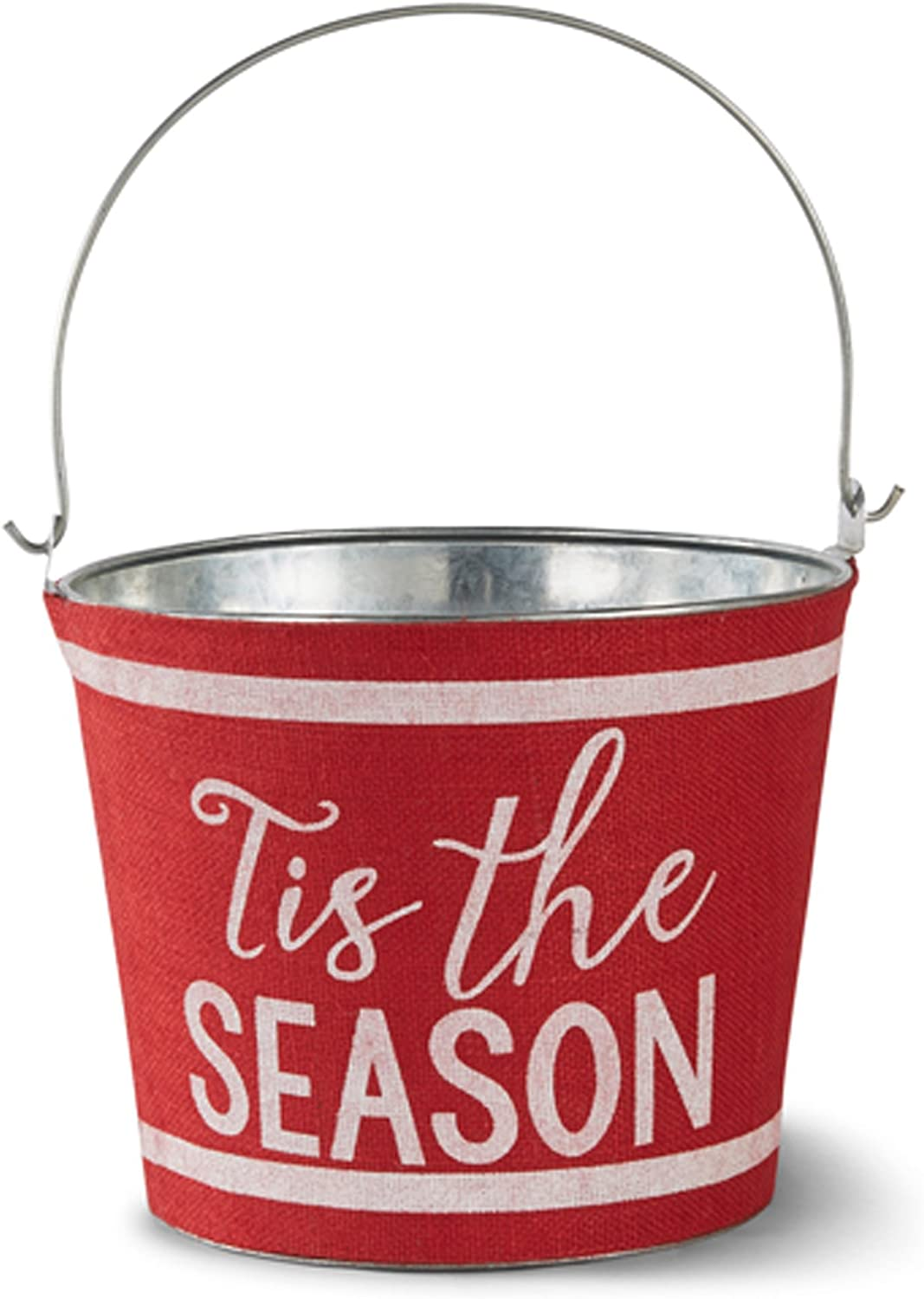 Mud Pie Tis The Season Holiday Christmas Beverage Tub, Red
