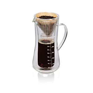 Hamilton Beach 40406 Pour-Over Coffee Maker, 17 Ounces, Glass Carafe