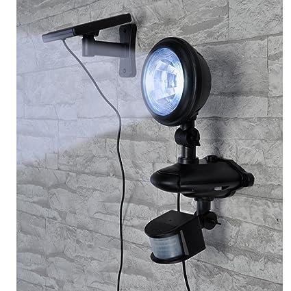 Lámpara LED Solar para exteriores con sensor de movimiento, en/interruptor, panel Solar