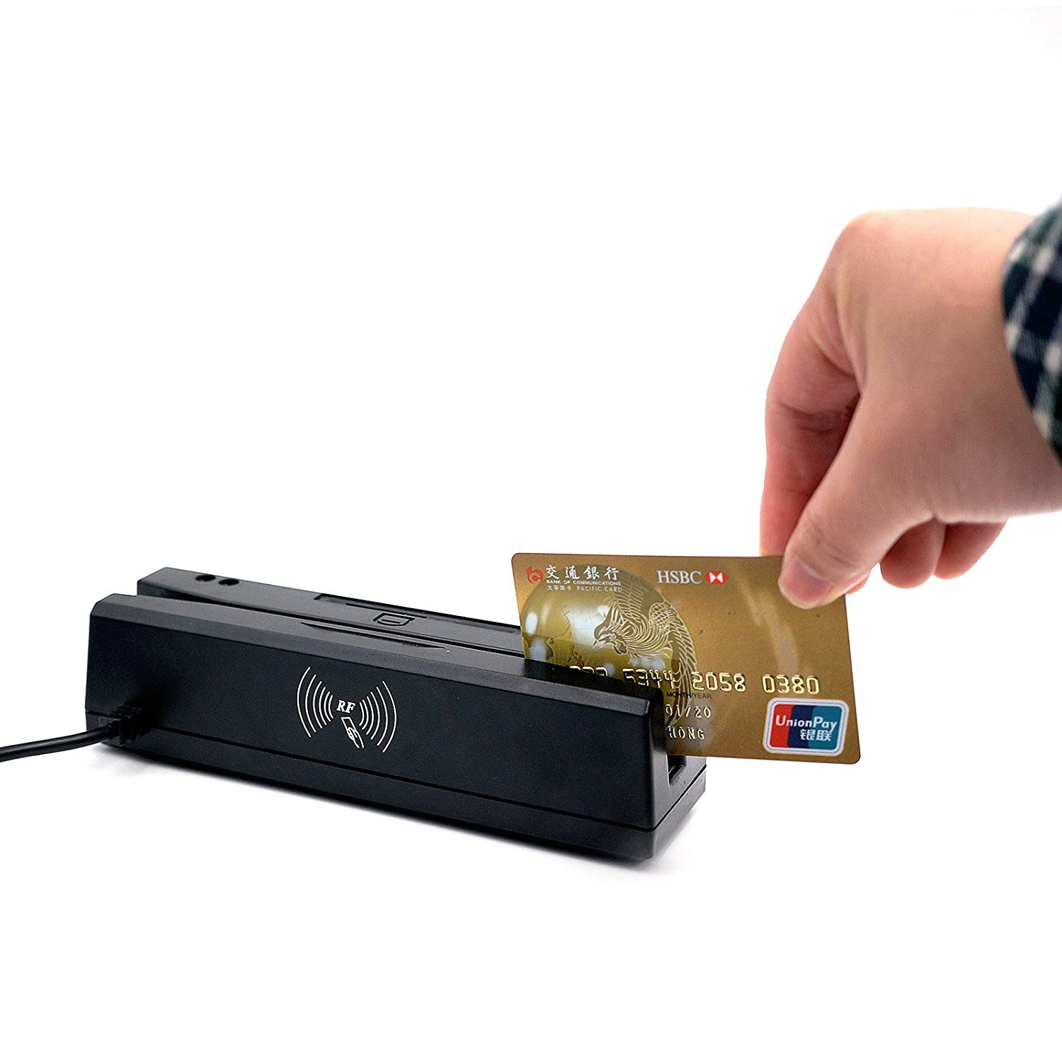zcs160 4 in 1 magnetic credit card reader writer ic