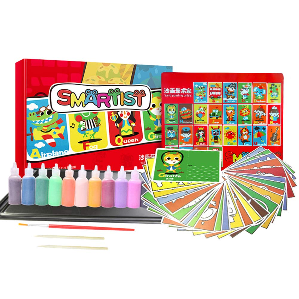 Amazon Com Hangnuo Sand Painting Art Kit With Colorful Sand And