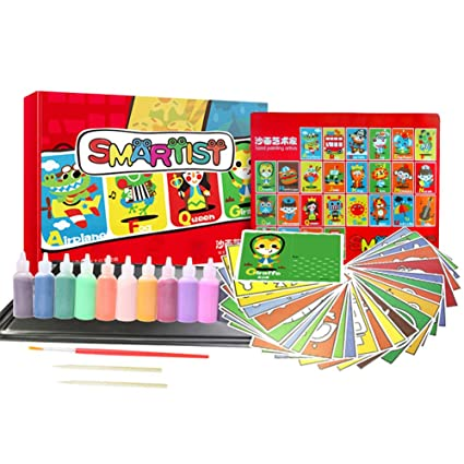 Amazon com: Hangnuo Sand Painting Art Kit with Colorful Sand