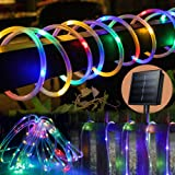 Solar Rope Lights Outdoor 33ft 100 LEDs Copper Wire Tube Lighting Waterproof Holiday Christmas Yard Patio Road Pathway Decora