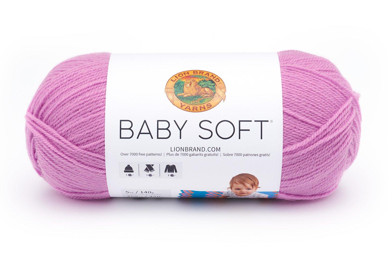 Lion Brand Yarn 920-218 Babysoft Yarn, Pastel Print