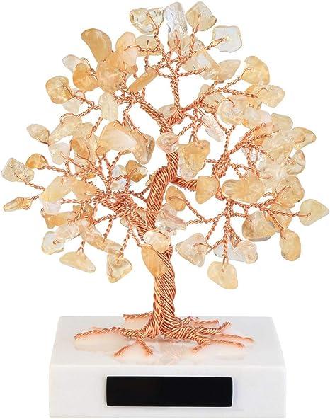 Jovivi Mini árbol De La Vida Bonsái Con Cuarzo Roza Natural Personalizado De 3 54 4 7 Pulg Adornado Con Cristales De Sanación Piedras Preciosas Pulidas Sobre Base De Mármol Para La Buena
