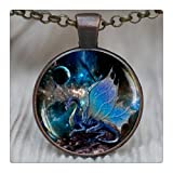 Amazon Price History for:Blue Dragon Pendant, Blue Dragon Necklace, Dragon Jewelry, Space Necklace, Nebula, Dragon Wings Jewelry,