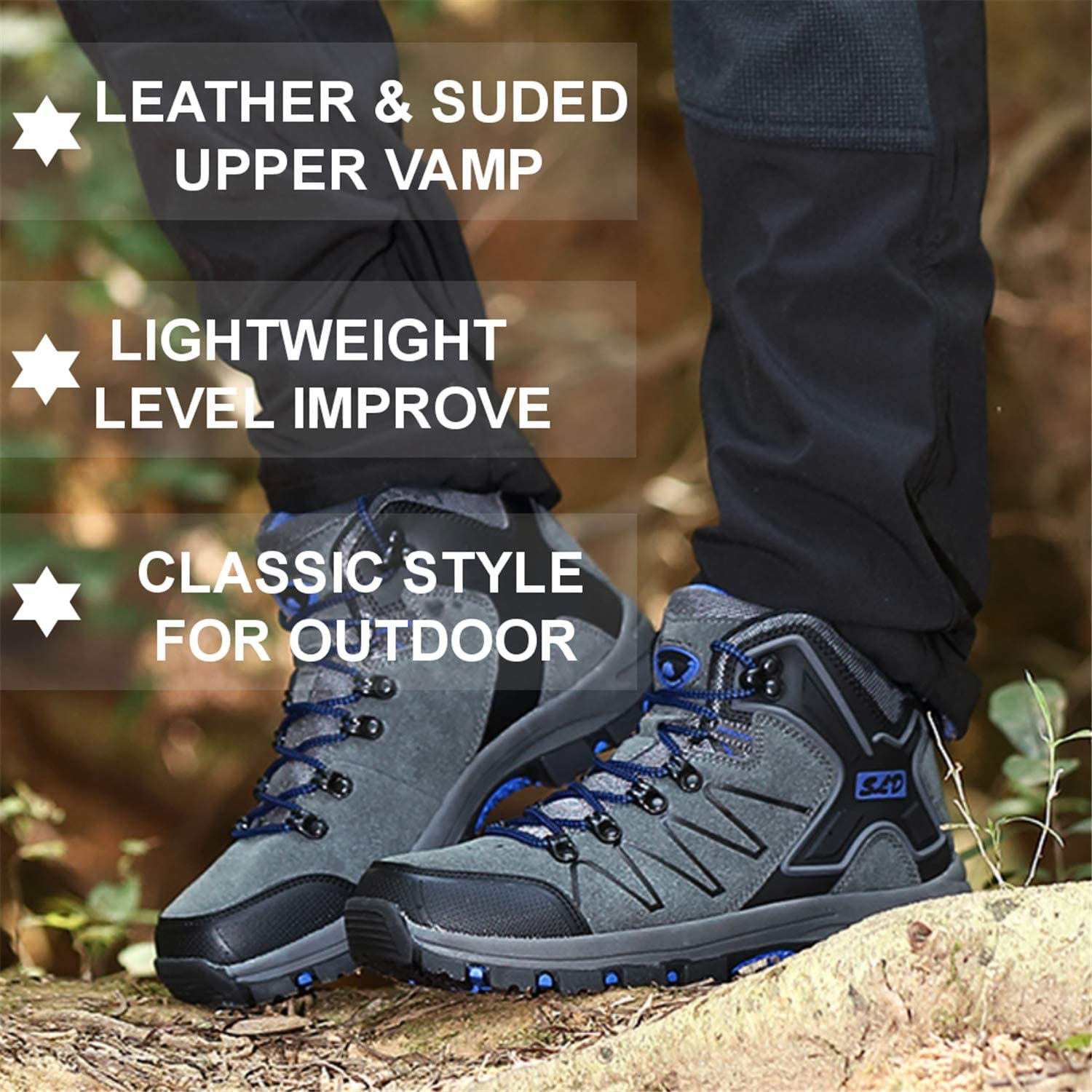 QLMXZY Mens Lightweight Hiking Boots and Casual Outdoor Shoes for Men