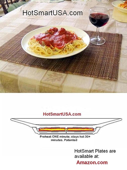 Amazon.com   HotSmart Hot Gourmet Plates - InstaHot 30 minute Plus (Patented) Dinner Plates Dinner Plates  sc 1 st  Amazon.com & Amazon.com   HotSmart Hot Gourmet Plates - InstaHot 30 minute Plus ...