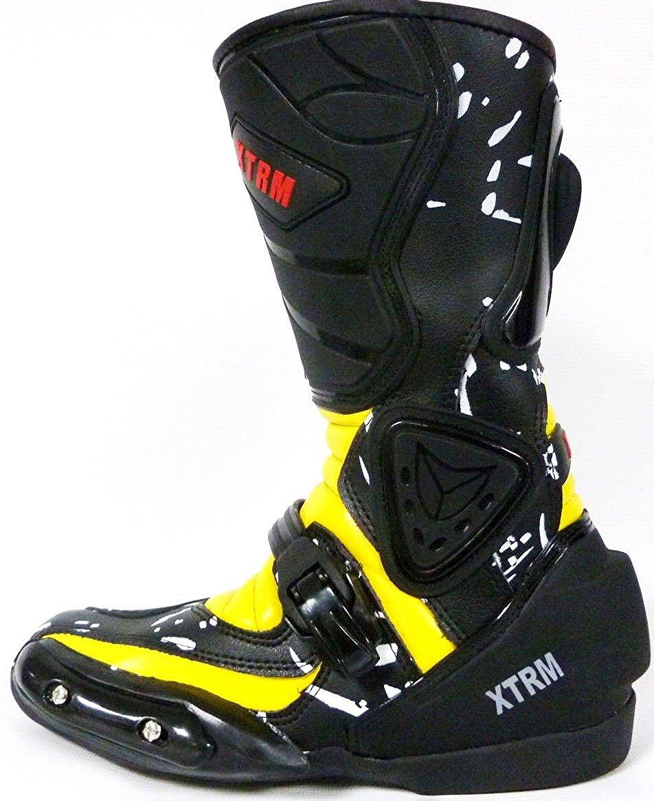 EU 32 UK 12 Moto Enfants Bottes XTRM Aventure Bottes denfants Moto sur la Route Armure Quad Chaussures de Tourisme Sportif , Noir Rouge
