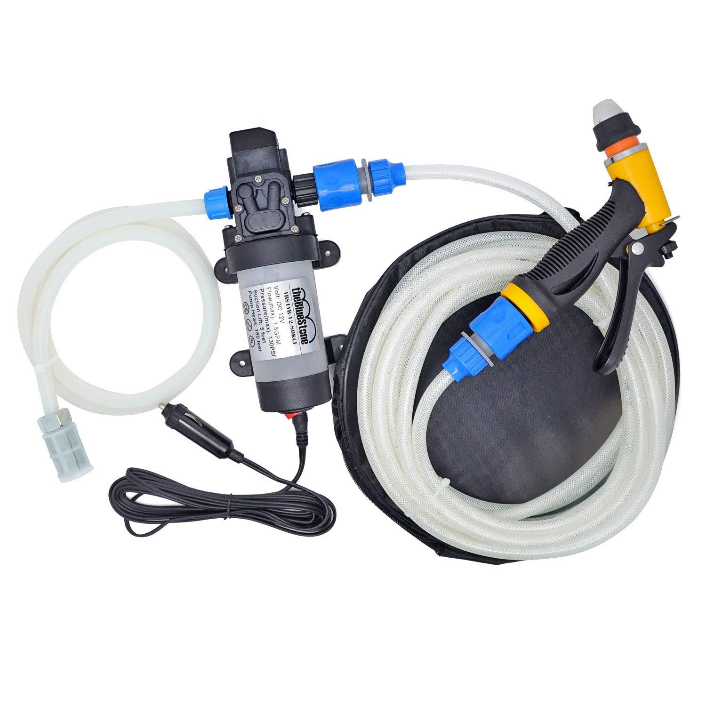 theBlueStone 80W 12V Car Washer Kit High Pressure Water Pump Wash Set  Sprayer Gun Electric Self-priming for