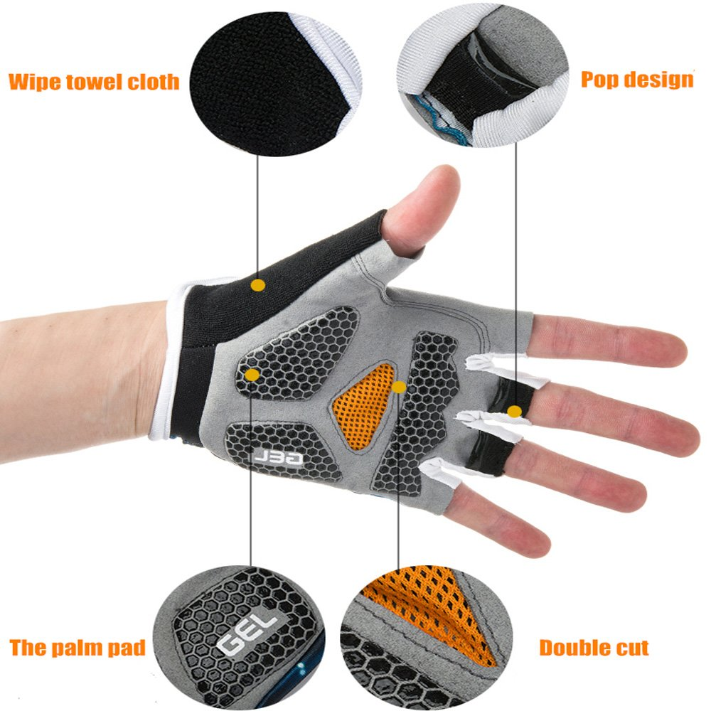 Ezyoutdoor Bike Full Finger Glove Riding Glove Breathable Unisex Reflex Outdoor Cycling Skiing Skateboard Shock Pads by ezyoutdoor (Image #5)