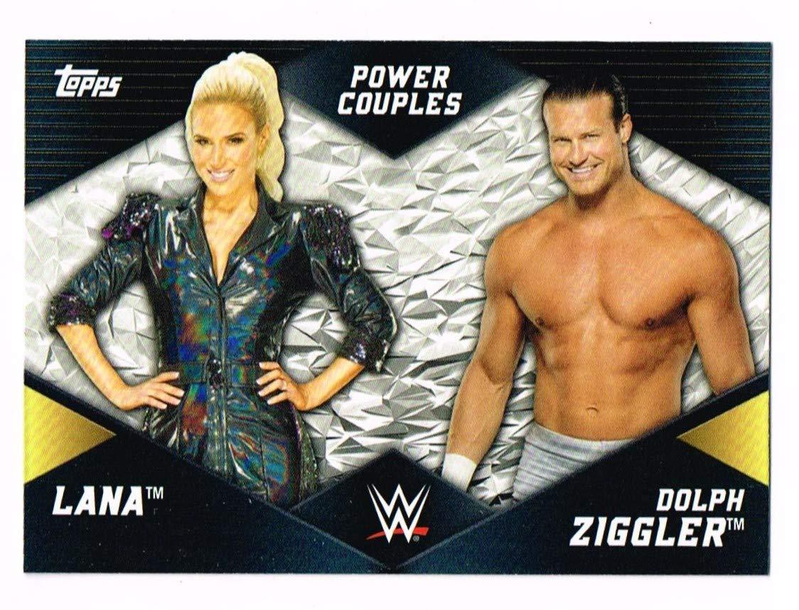2018 - Lana & Dolph Ziggler - # PC-12 - Power Couples - Topps - WWE Women's Division - Wrestling Trading Card