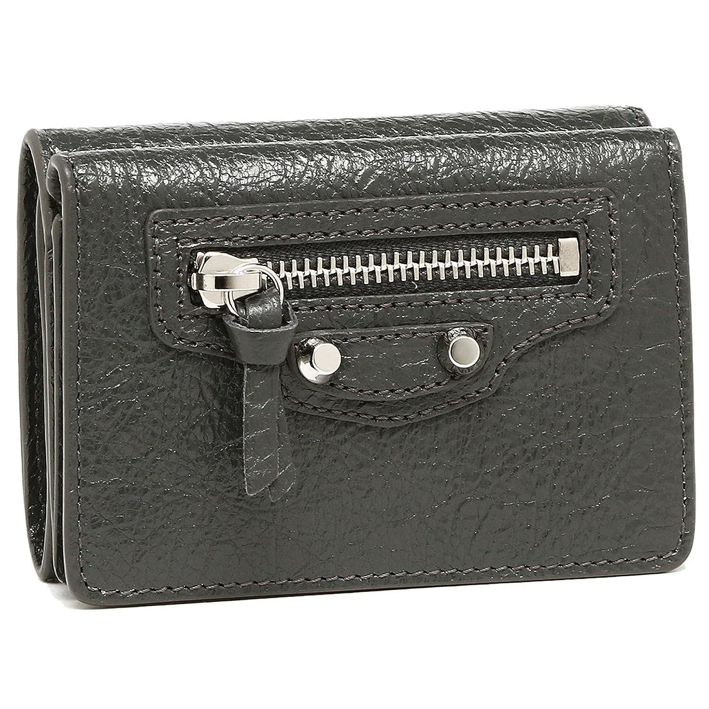 [バレンシアガ] 折財布 レディース BALENCIAGA 477455 D940N 1110 ダークグレー [並行輸入品] B07CSH215R
