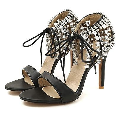 a37d75562d48d Amazon.com: Brand Shoes Woman High Heels Gladiator Sandals Women ...