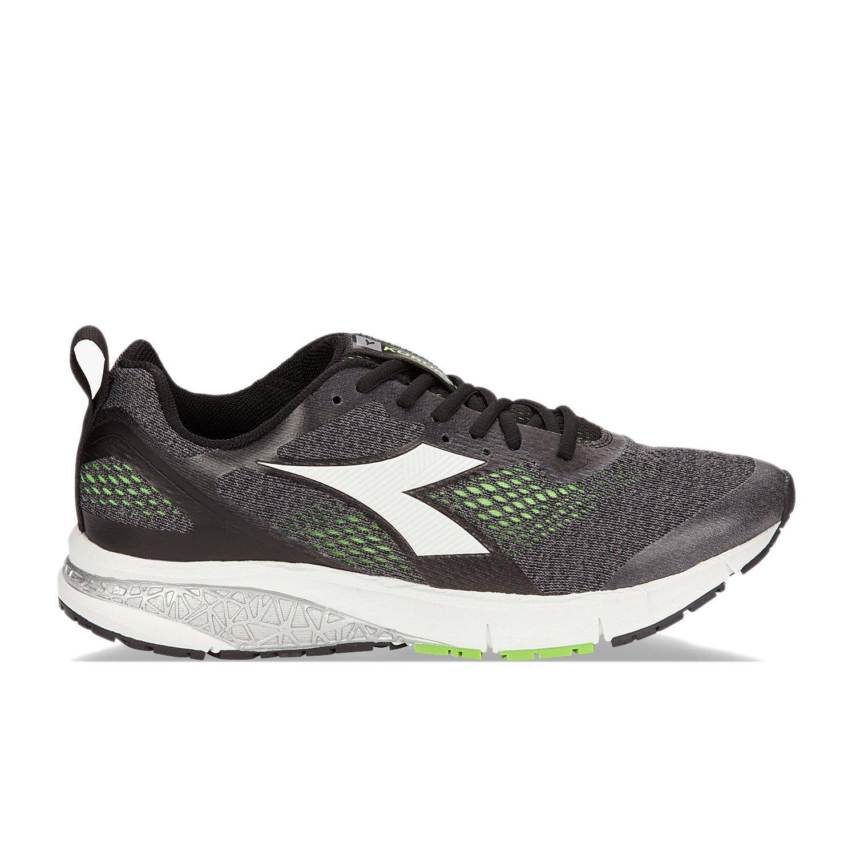 Diadora Kuruka 2, Zapatillas de Running para Hombre EU 41 - US 8 - UK 7.5 (cm 26)|C0907 - Jet Negro-verde Fluo