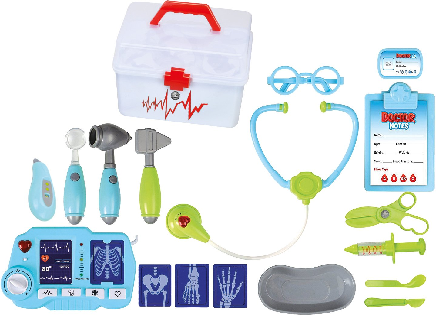 Doctors Toy Set For Kids TG663 - Fun Doctors Kit For Toddlers Boys & Girls with 18 pieces including X-Ray Machine - Pretend Medical Play Set By ThinkGizmos (Trademark Protected)   B075XSLJNJ