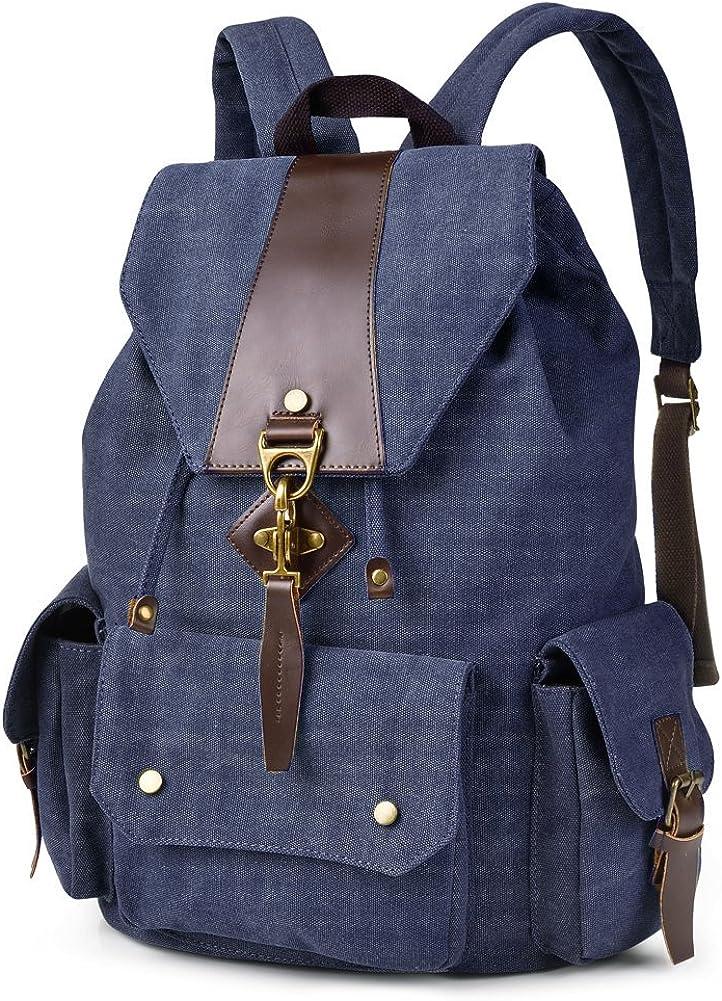 VBG VBIGER Travel Backpacks Rucksack Casual Backpack Daypack Canvas Backpack for Men Women
