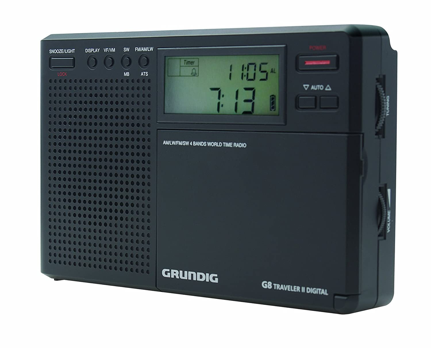 Amazon.com: Grundig Eton Digital G8 Radio (NG8B Compact 4 Band World Time  Radio) - Battery or Mains Electric (optional) - Compact / Portable -  Headphone ...