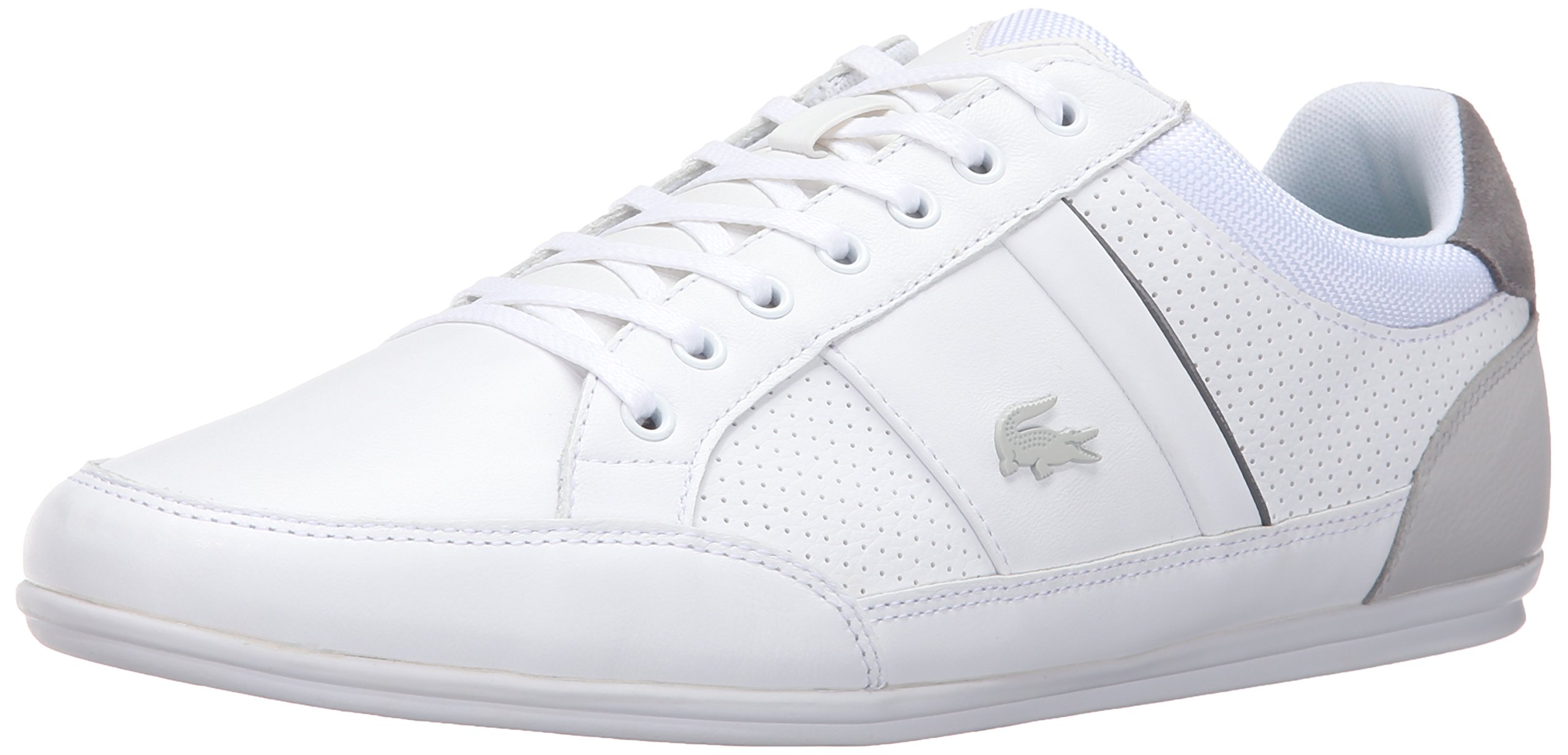 Lacoste Men's Chaymon 316 1 Cam Fashion Sneaker, White/Light Green, 11 M US