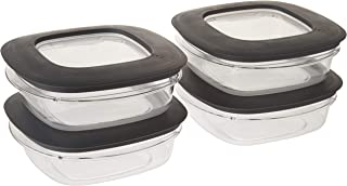 product image for Rubbermaid Premier Food Storage Container, 3 Cup, Grey (4 Pack)
