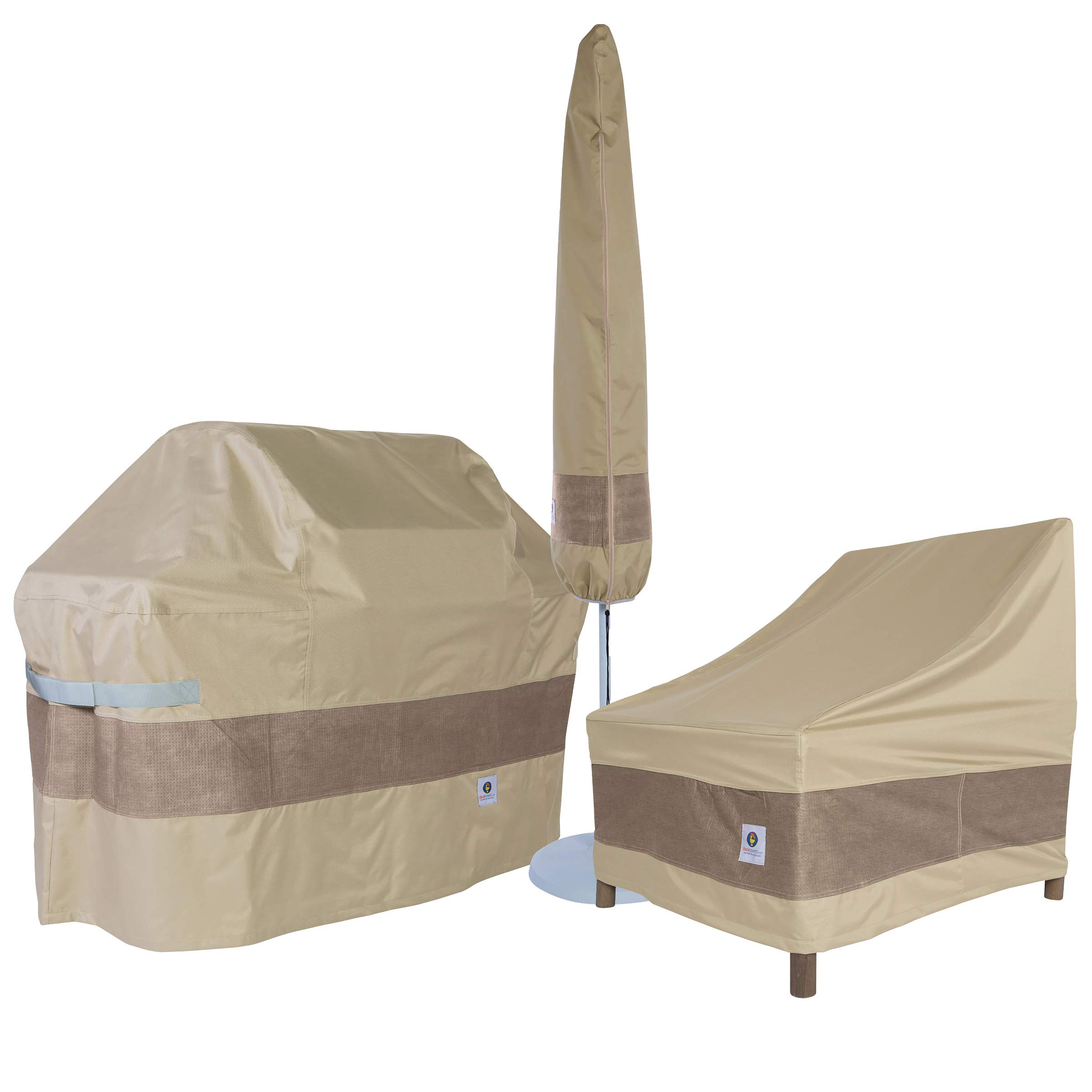 Duck Covers Elegant Offset Patio Umbrella Cover with Installation Pole, 101-Inch by Duck Covers (Image #4)