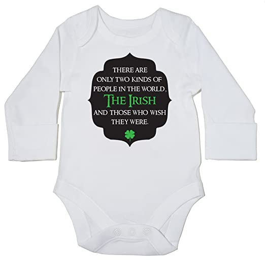HippoWarehouse There are only two kinds of people in the world, The Irish and those who wish they were body manga larga bodys pijama niños niñas unisex: ...