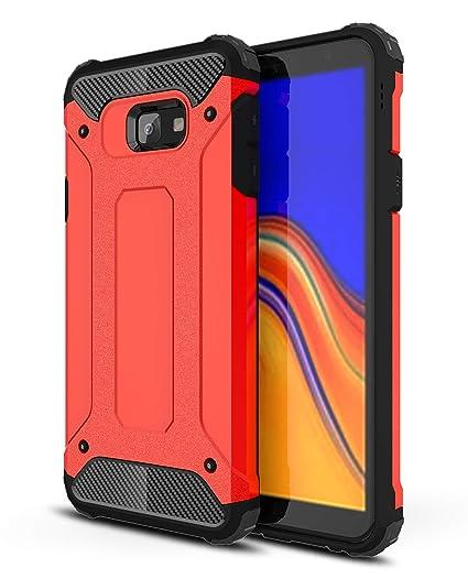 AOBOK Funda Samsung Galaxy J4 Plus, Rojo Moda Armadura Híbrida Carcasa Shock Absorción Proteccion, Anti-Scratch, Funda Case para Samsung Galaxy J4 ...