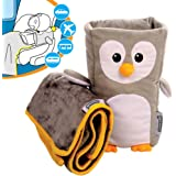 Kids Travel Pillow and Blanket set - 'Tux' Armrest Buddy Transforms Any Armrest Into a Comfy Childs Pillow - Ideal For 1.5 to 4 Years