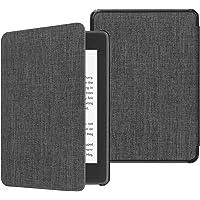 Fintie SlimShell Funda para Kindle Paperwhite (10.ª generación, 2018) - Carcasa Fina y Ligera de Tela con Función de Auto-Reposo/Activación, Tela Gris Marengo