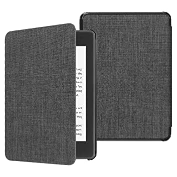 Fintie Slimshell Case for All-New Kindle Paperwhite (10th Generation, 2018  Release) - Premium Lightweight Fabric Cover with Auto Sleep/Wake for Amazon