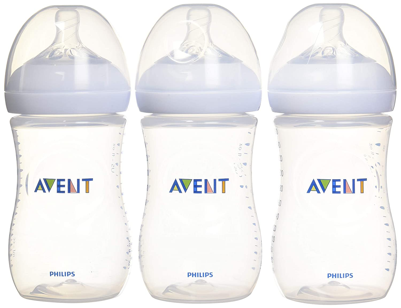 SCF013//37 PHILIPS Avent 3 Pack 9oz Natural BPA free Baby Bottles