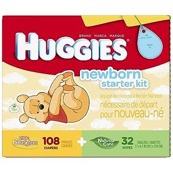 Amazon.com : HUGGIES Little Snugglers Newborn Gift Set - 108 Diapers ...