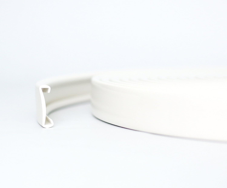 15m PVC Handlauf Treppenhandlauf Kunststoffhandlauf 40x8 mm wei/ß