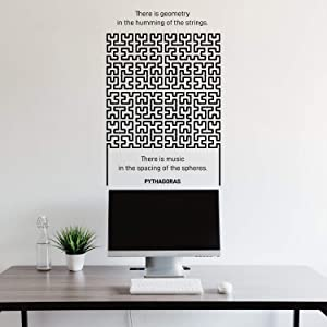 Vinyl Wall Art Decal - There Is Geometry In The Humming Of The Strings - 34