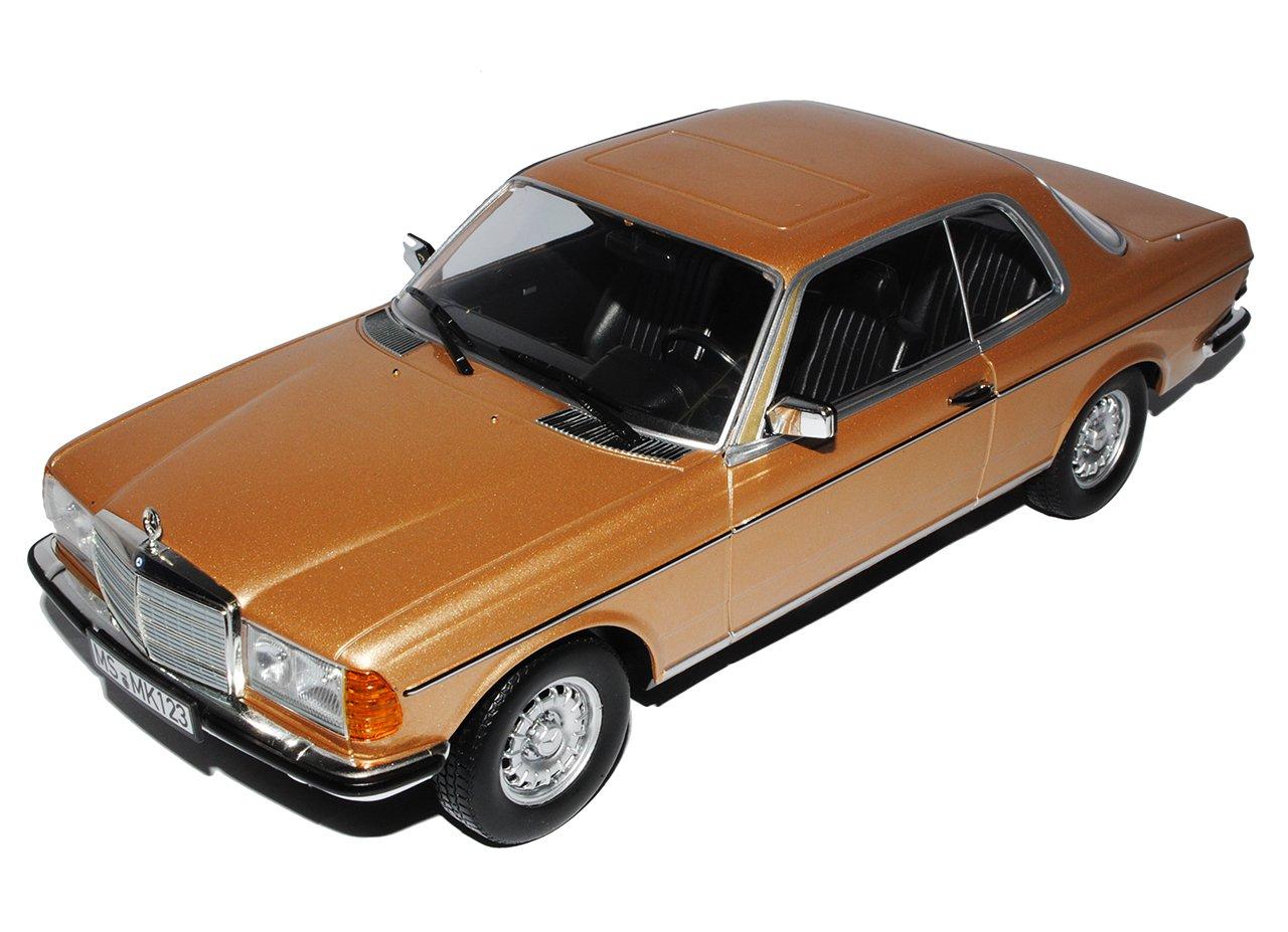 Norev Mercedes-Benz E-Klasse Coupe 280 CE C123 Gold Beige 1975-1986 1/18 Modell Auto
