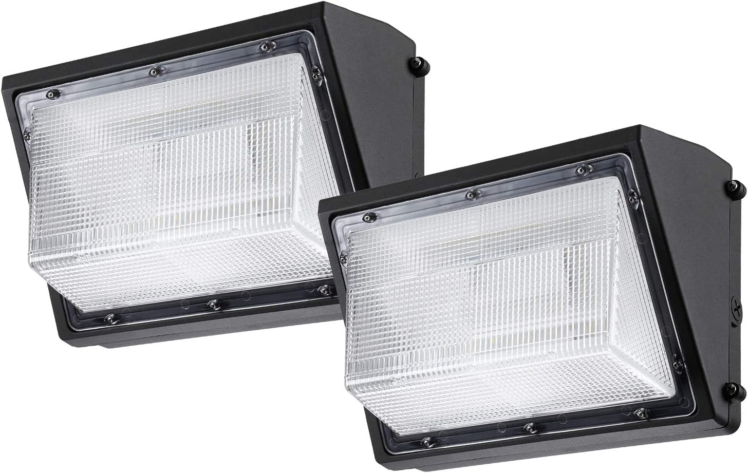 Amazon Com Leonlite 80w Led Wall Pack Lights 8900lm Ip65 Waterproof Wall Mount Outdoor Security Lighting Fixture Etl Listed 57000k Pack Of 2 Home Improvement