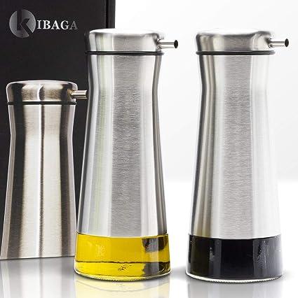 Amazoncom Elegant Olive Oil And Vinegar Dispenser Set Of 2