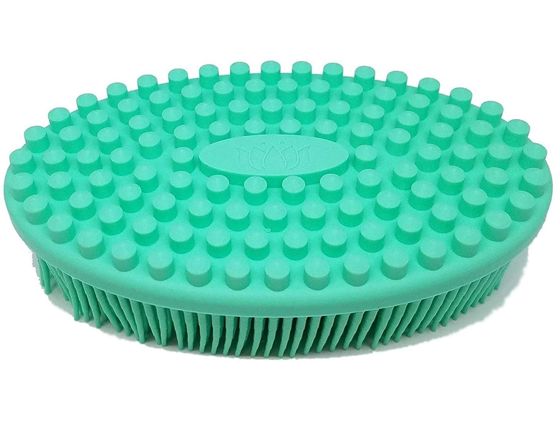 KAIMENG Bath Shower Loofah Brush 2 in 1 Face & Body Gentle Scrub Skin Exfoliation Massage Nubs Improve Cellulite.