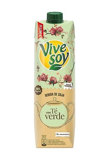 Vivesoy Soja y Té Verde Bebida 100% Vegetal de Soja Seleccionada - 1 l